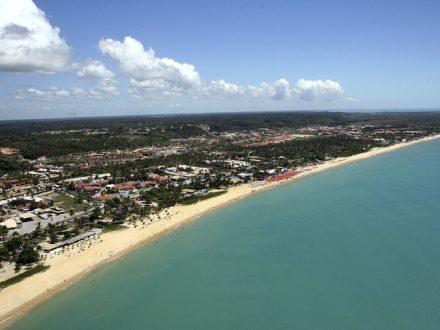 air view of porto seguro, bahia, brazil