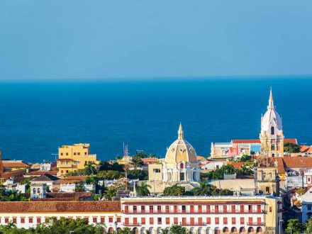 Historic center of Cartagena with several important churches visible
